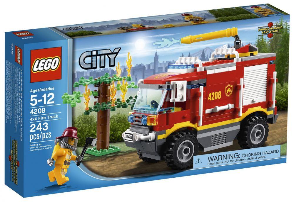 lego city 4208 pas cher le camion de pompier tout terrain. Black Bedroom Furniture Sets. Home Design Ideas