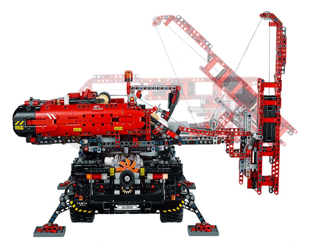lego technic 42082 pas cher la grue tout terrain. Black Bedroom Furniture Sets. Home Design Ideas