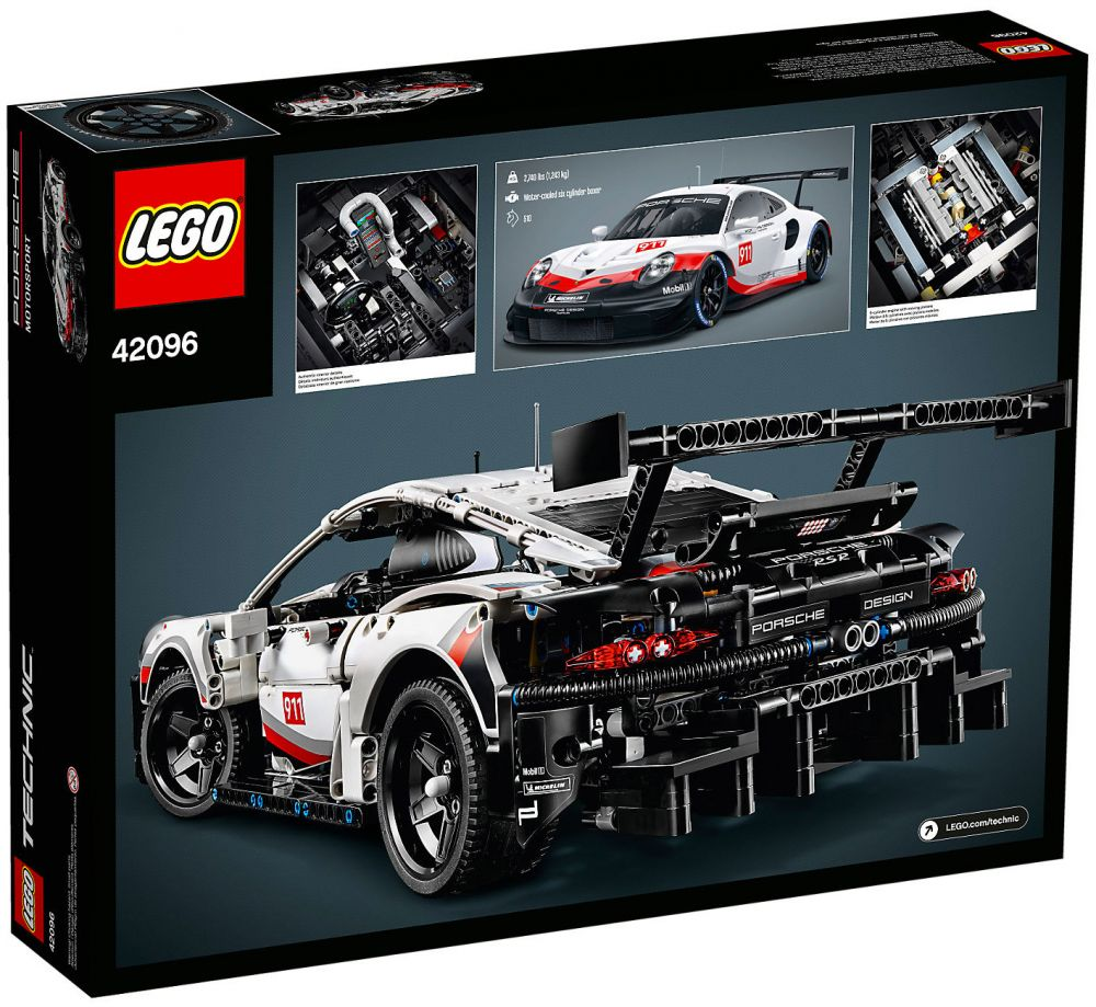 lego technic 42096 pas cher porsche 911 rsr. Black Bedroom Furniture Sets. Home Design Ideas
