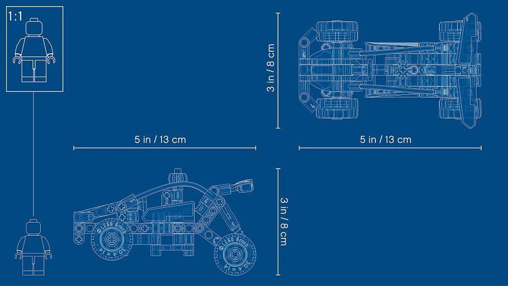 Lego 42101 TECHNIC Buggy pour voiture de course 1 en 2-Building Set 117 pièces modèle 2020