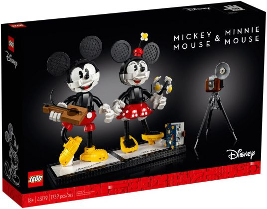 LEGO Disney 43179 Personnages à construire Mickey Mouse et Minnie Mouse