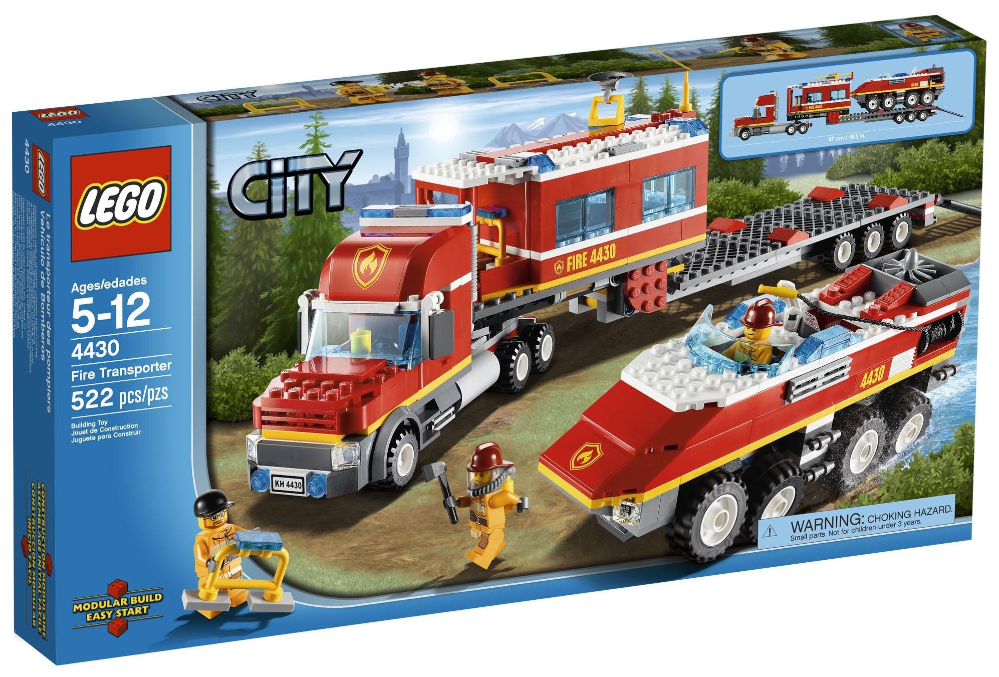 lego city 4430 pas cher le transporteur des pompiers. Black Bedroom Furniture Sets. Home Design Ideas
