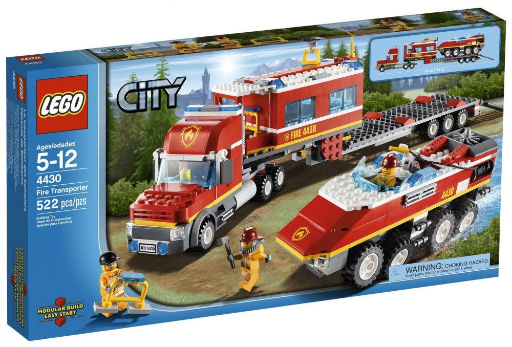 lego city 4430 le transporteur des pompiers - Lego City Pompier