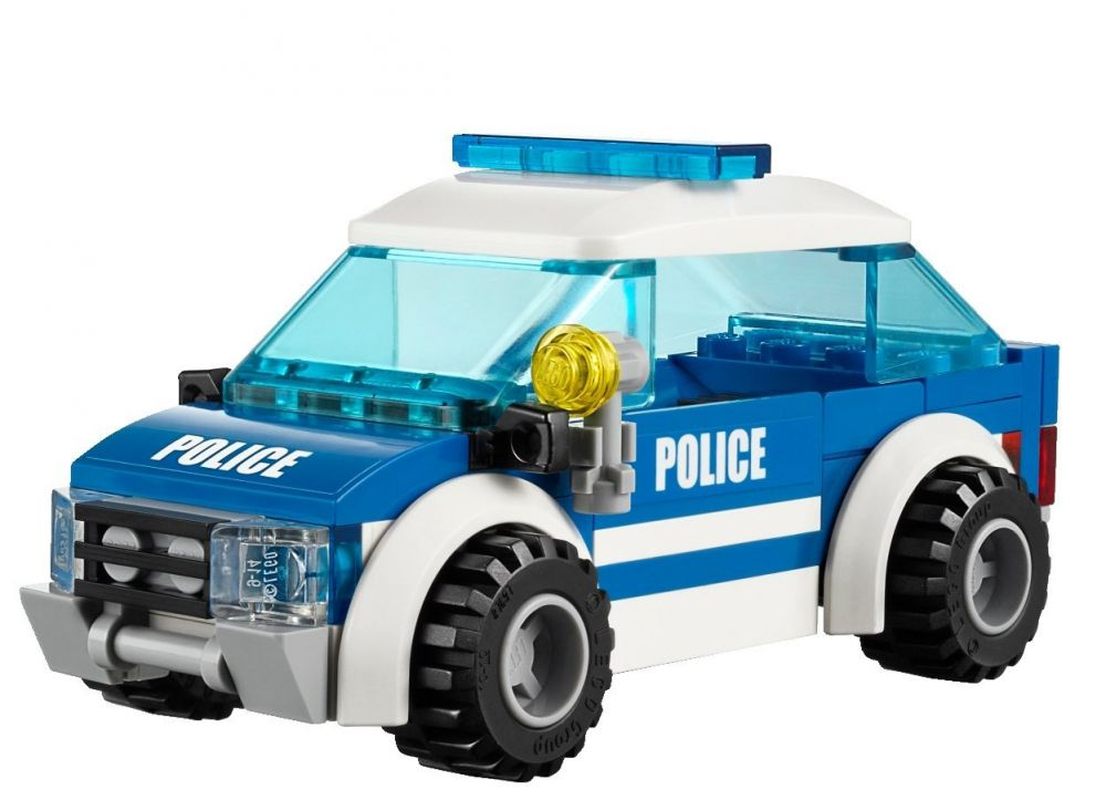 lego city 4436 pas cher la voiture de patrouille en for t. Black Bedroom Furniture Sets. Home Design Ideas
