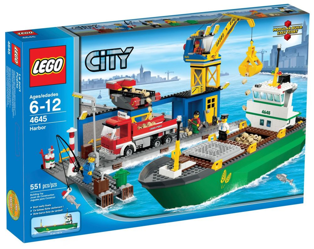 lego city 4645 le port - Lego City Bateau