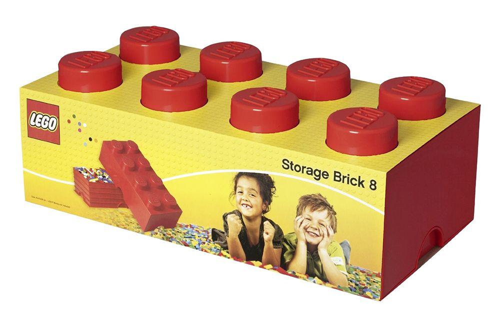 Lego rangement 5000463 pas cher brique de rangement rouge 8 plots - Brique de rangement lego ...