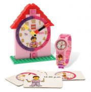 LEGO Horloges & Réveils  5001371 Montre et horloge figurine fille LEGO Time-Teacher