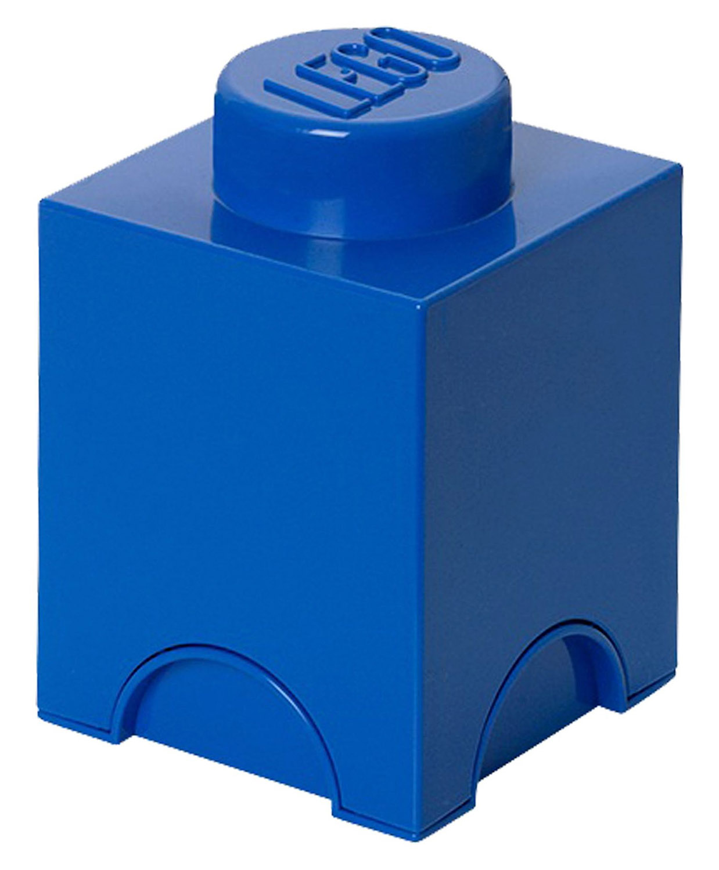 Lego rangement 5003565 pas cher brique de rangement bleue 1 plot - Brique de rangement lego ...