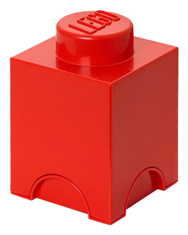 Lego rangement 5003566 pas cher brique de rangement rouge 1 plot - Brique rangement lego ...