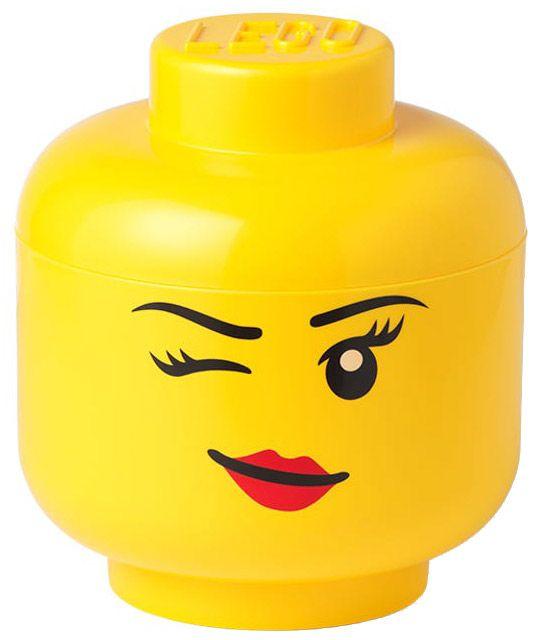 LEGO Rangement 5006186 pas cher, Rangement en forme de tête de fille LEGO - Petit (clin d'œil)