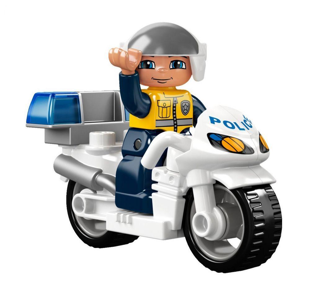 lego duplo 5679 pas cher la moto de police. Black Bedroom Furniture Sets. Home Design Ideas