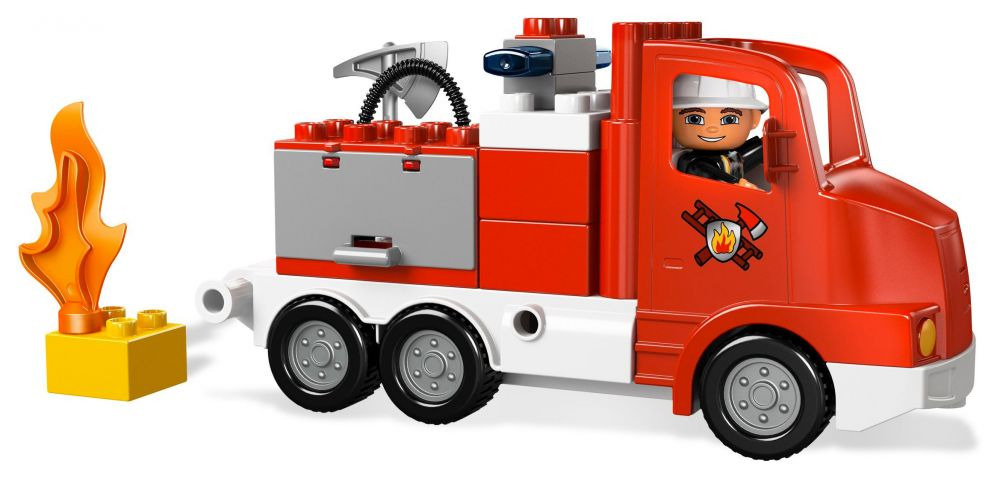 lego duplo 5682 pas cher le camion des pompiers. Black Bedroom Furniture Sets. Home Design Ideas