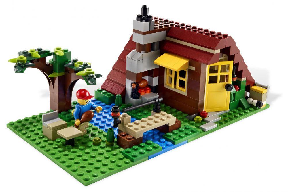 lego creator 5766 pas cher la maison en for t. Black Bedroom Furniture Sets. Home Design Ideas