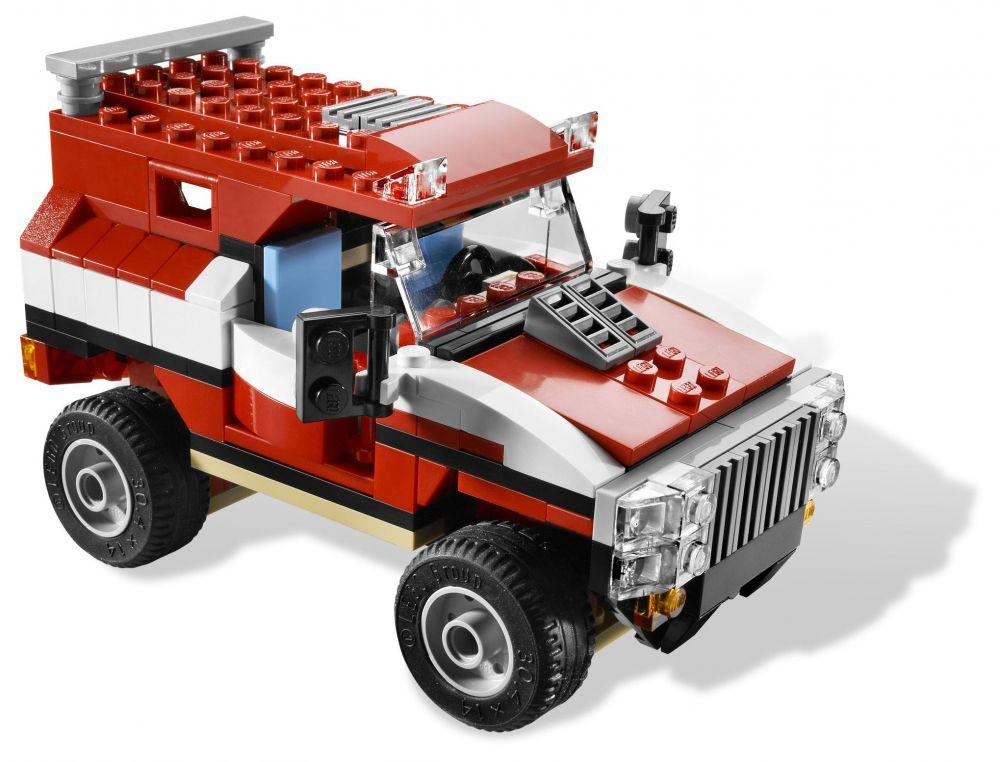 lego creator 5867 pas cher la voiture de rallye. Black Bedroom Furniture Sets. Home Design Ideas