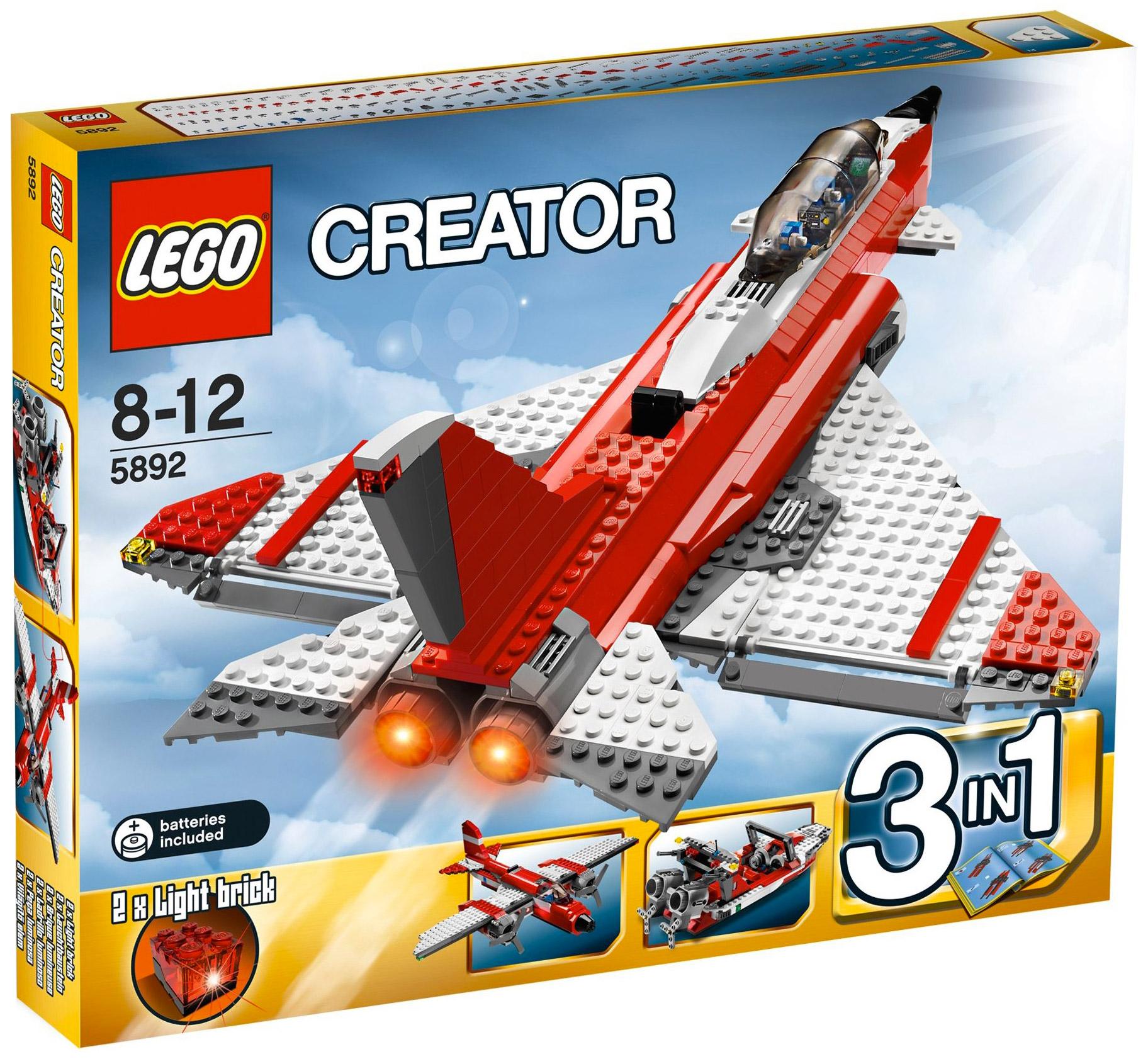 Lego creator 5892 pas cher l 39 avion supersonique - Avion de chasse en lego ...