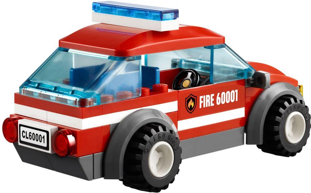 lego city 60001 pas cher la voiture du chef des pompiers. Black Bedroom Furniture Sets. Home Design Ideas