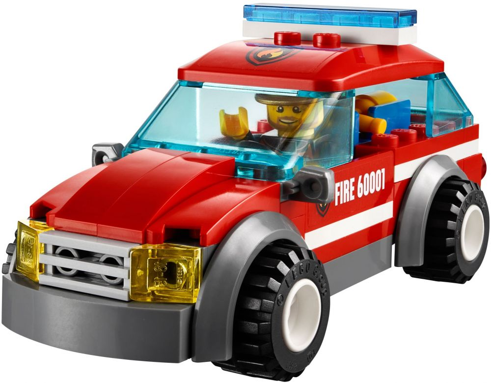 60001 la voiture du chef des pompiers de lego. Black Bedroom Furniture Sets. Home Design Ideas