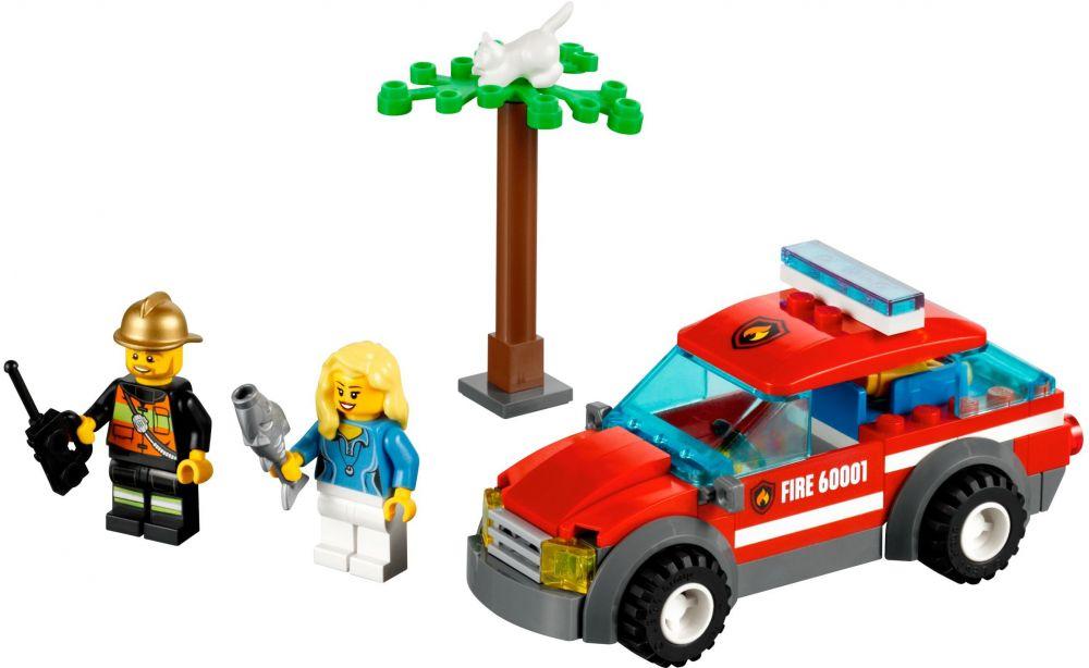 Jouet Lego City 60001  La Voiture du Chef des Pompiers  La Minuté Bébé