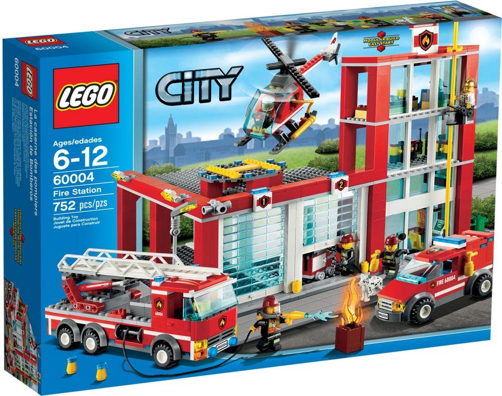 Lego city 60004 pas cher la caserne des pompiers - Caserne pompier playmobil pas cher ...