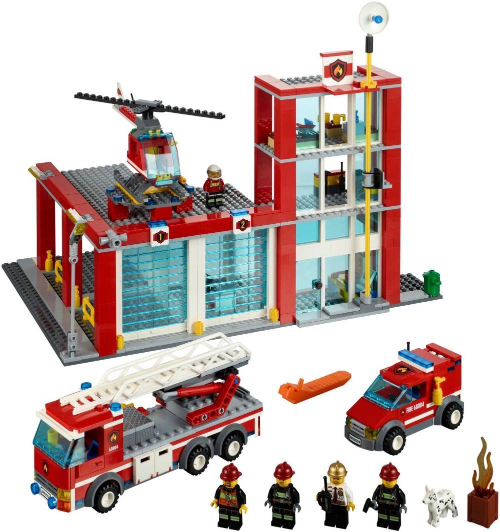 lego city 60004 pas cher la caserne des pompiers. Black Bedroom Furniture Sets. Home Design Ideas