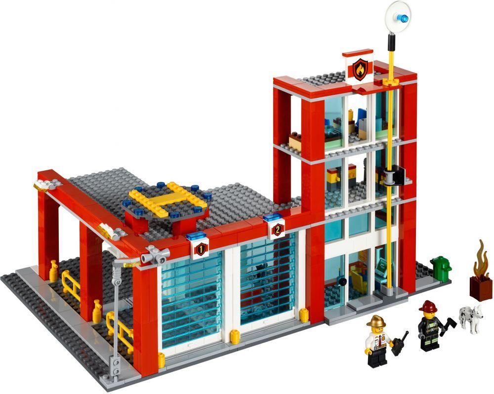 lego city 60004 la caserne des pompiers - Lego City Pompier