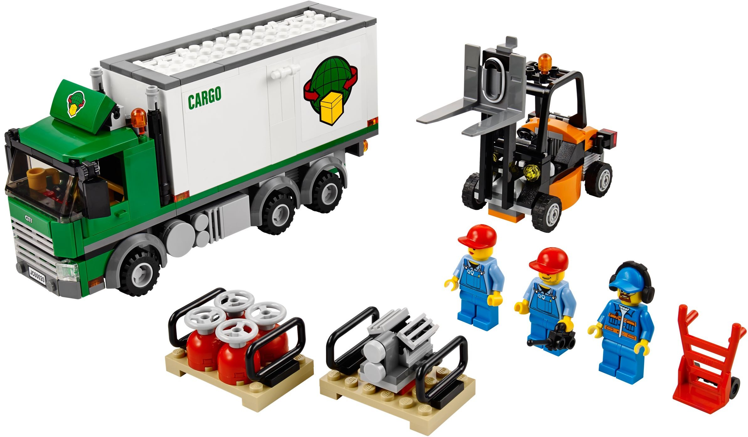 lego city 60020 pas cher le camion de marchandises. Black Bedroom Furniture Sets. Home Design Ideas