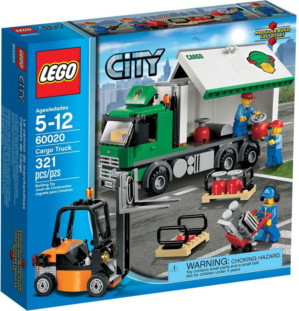 Lego city 60020 pas cher le camion de marchandises - Camion de police lego city ...