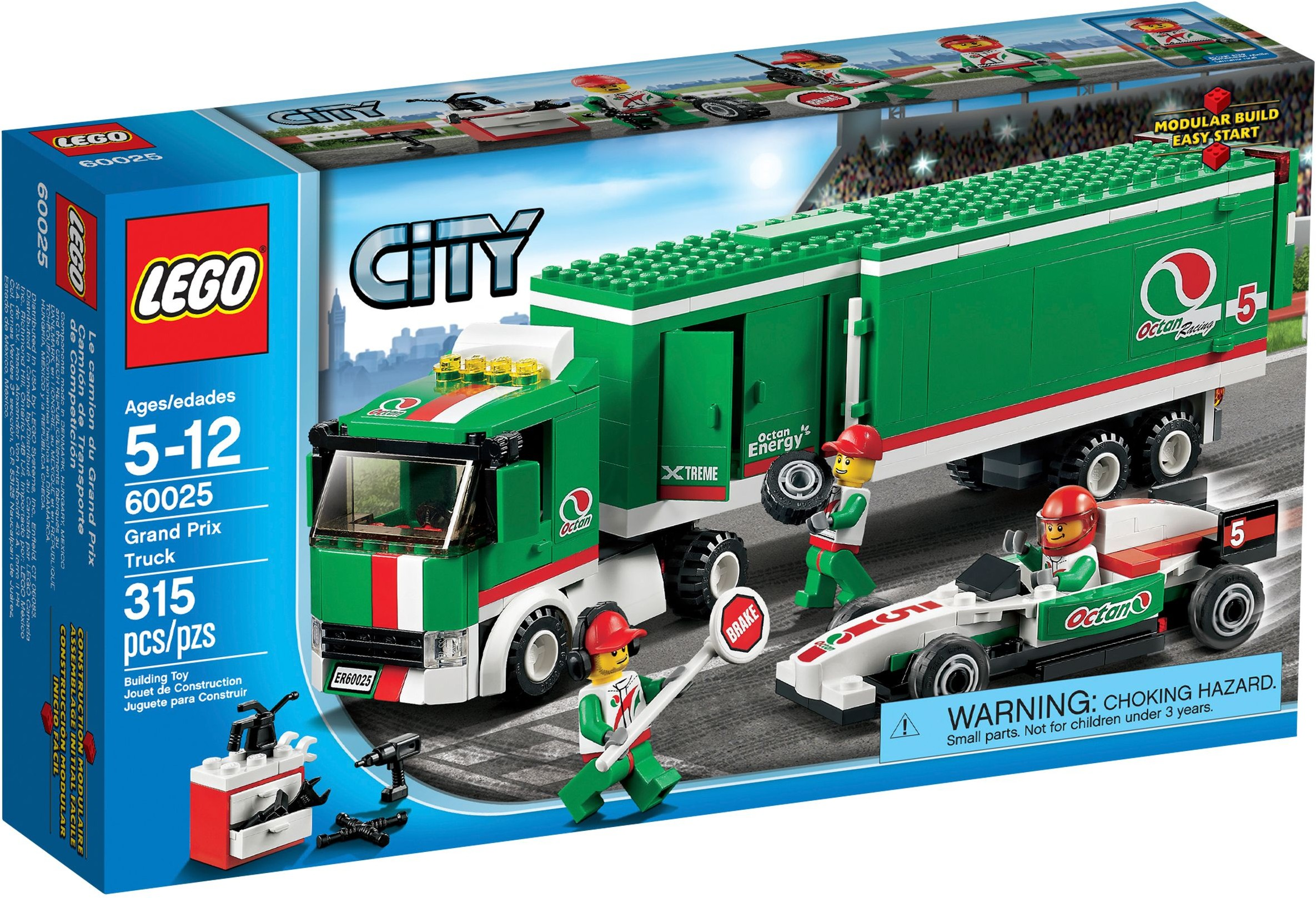 lego city 60025 pas cher le camion du grand prix. Black Bedroom Furniture Sets. Home Design Ideas