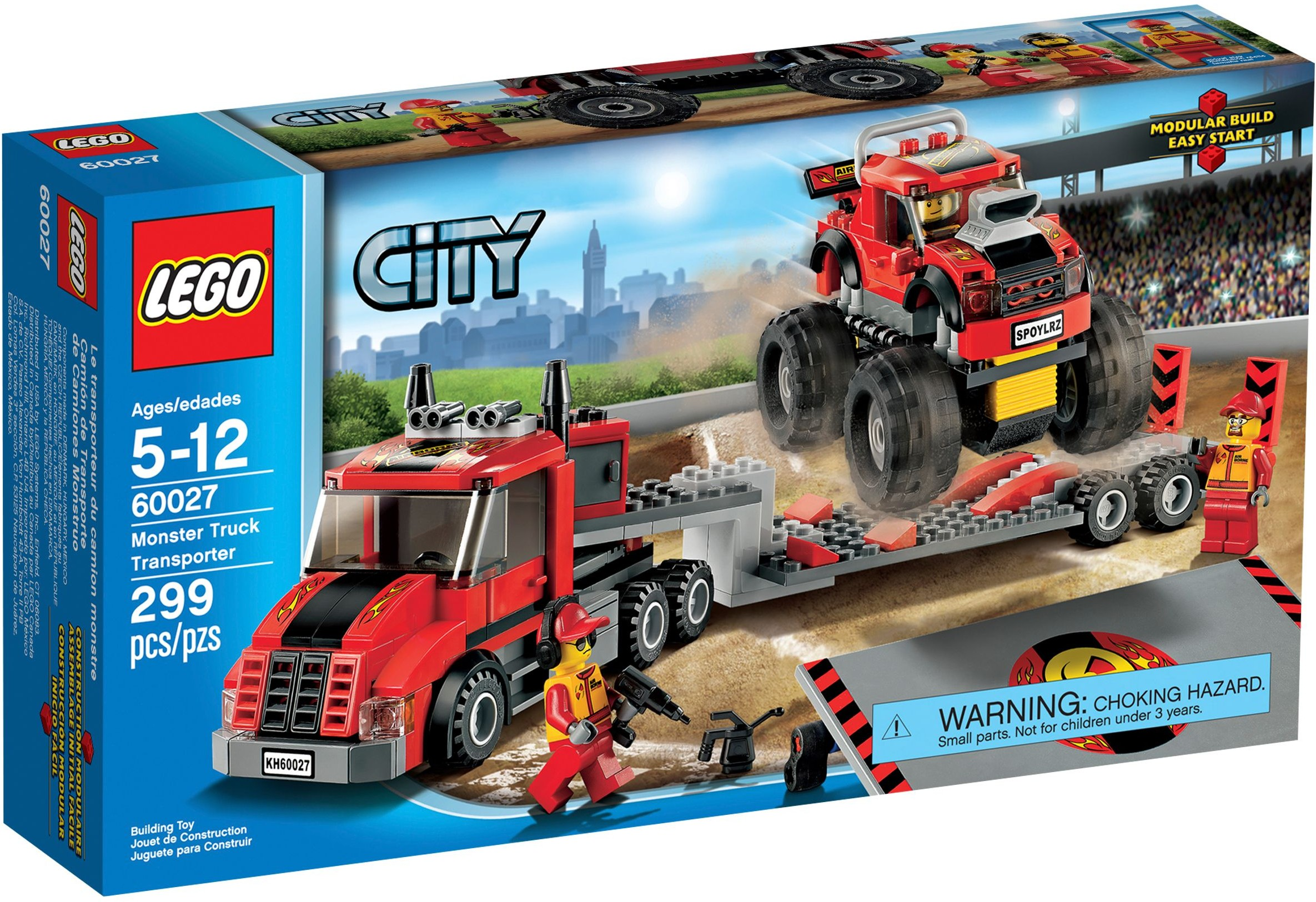Lego city 60027 pas cher le camion de transport du monster truck - Lego city police camion ...