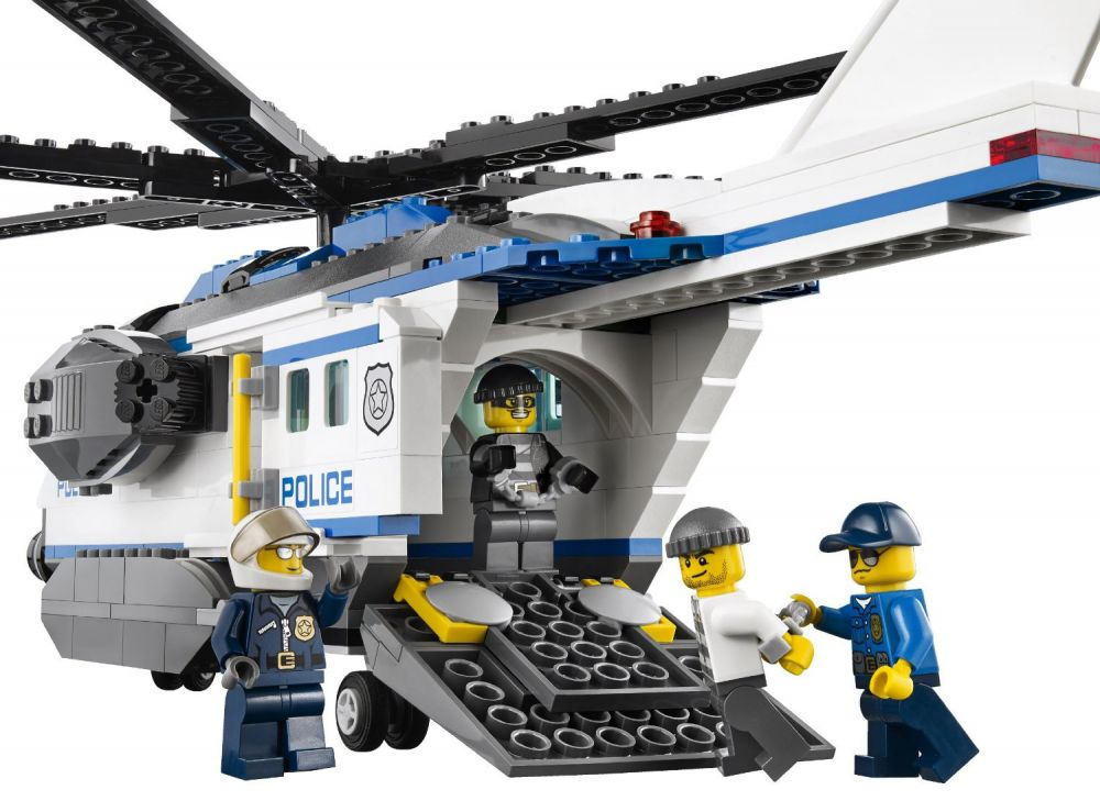 Lego Police Helicopter 60046 Helicopter And Bridge Wallpaper