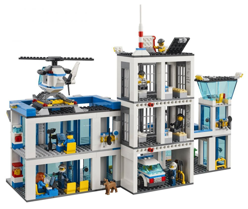 lego city 60047 pas cher le commissariat de police. Black Bedroom Furniture Sets. Home Design Ideas