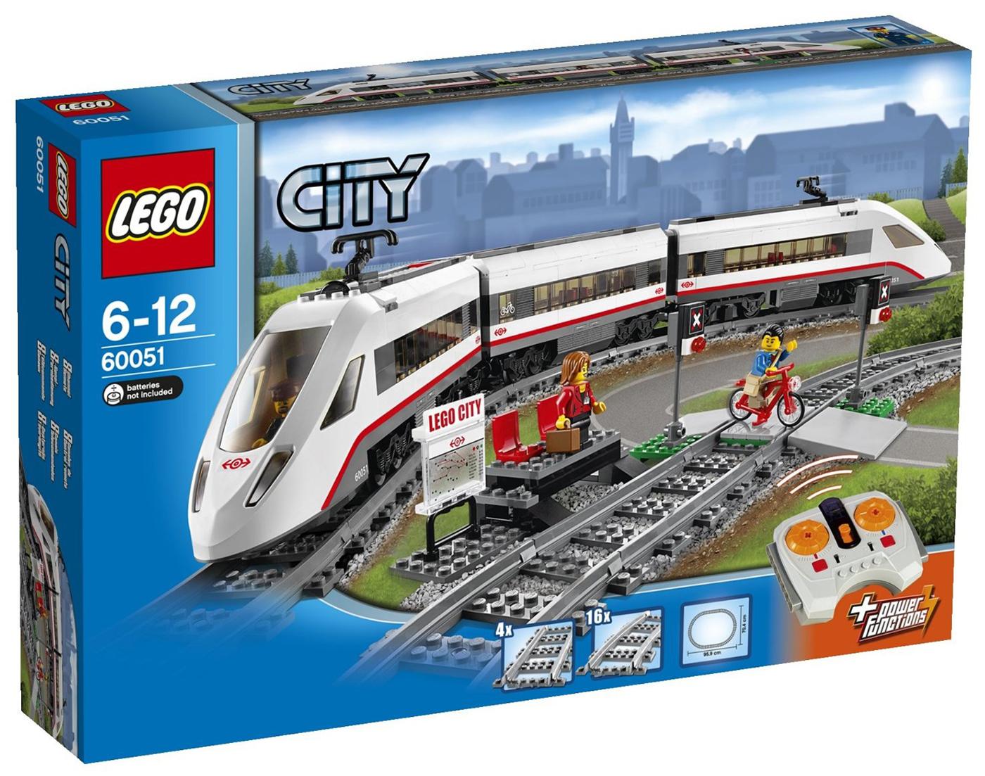 lego city 60051 pas cher le train de passagers grande vitesse. Black Bedroom Furniture Sets. Home Design Ideas