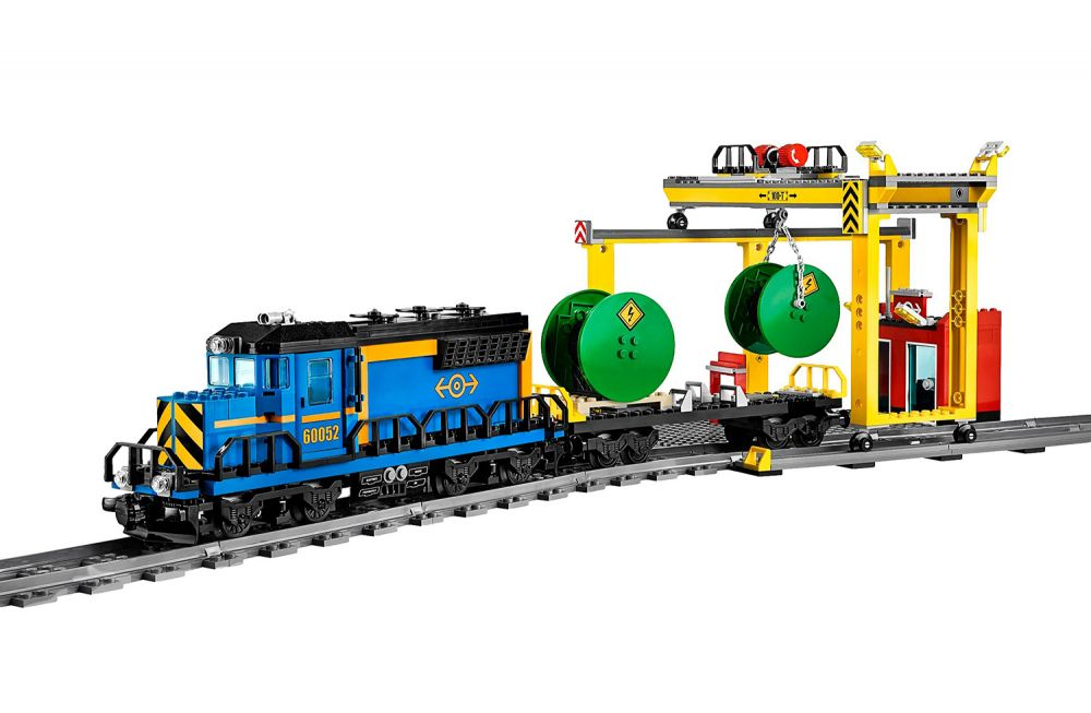 blue lego train instructions