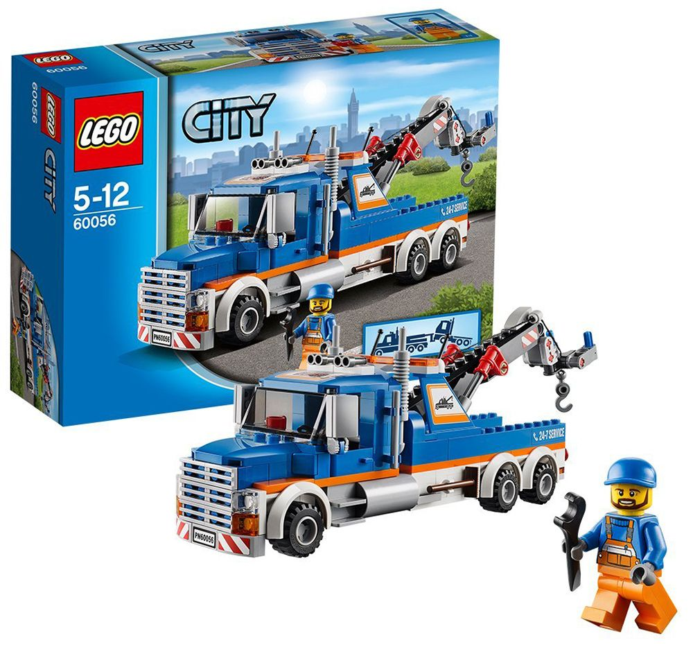 lego city 60056 pas cher la remorqueuse de camions. Black Bedroom Furniture Sets. Home Design Ideas