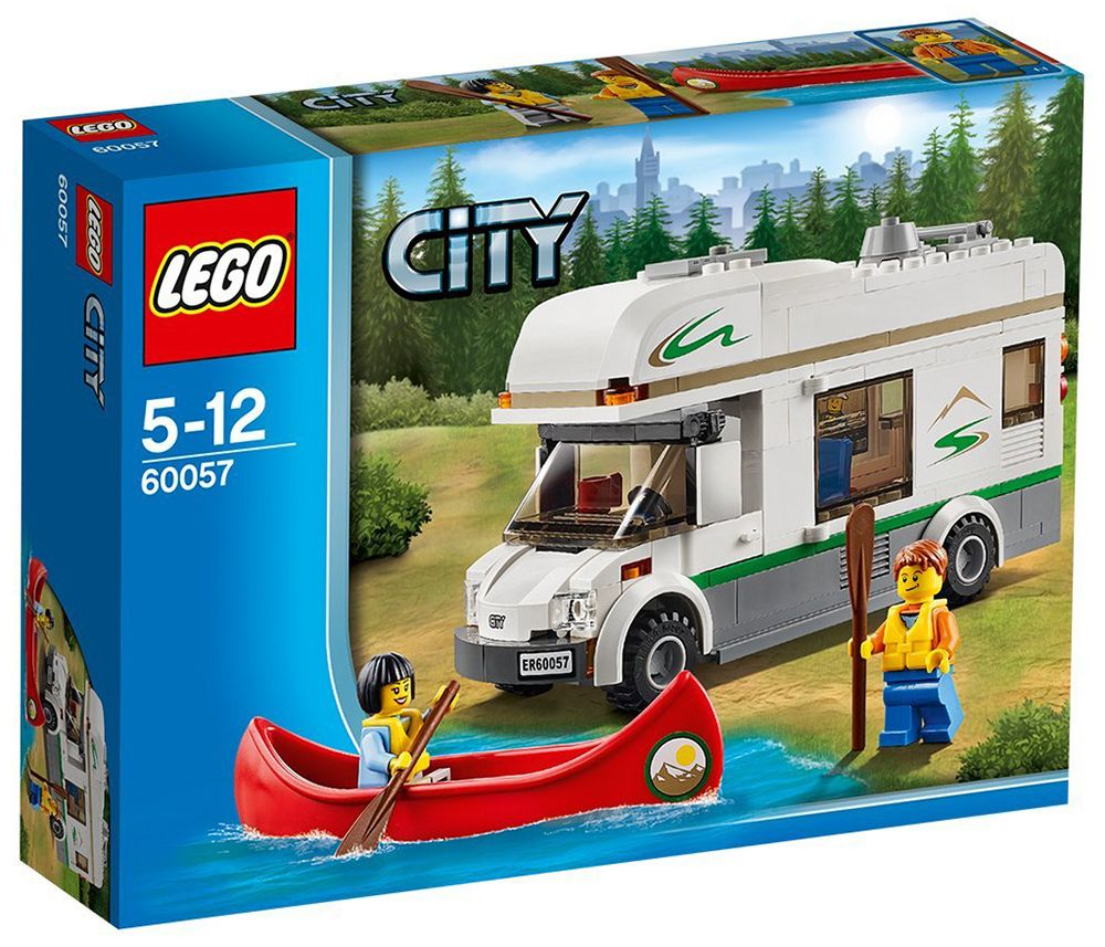 lego city 60057 pas cher le camping car et son cano. Black Bedroom Furniture Sets. Home Design Ideas