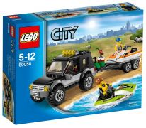 LEGO City 60058 Le 4x4 de transport des scooters des mers