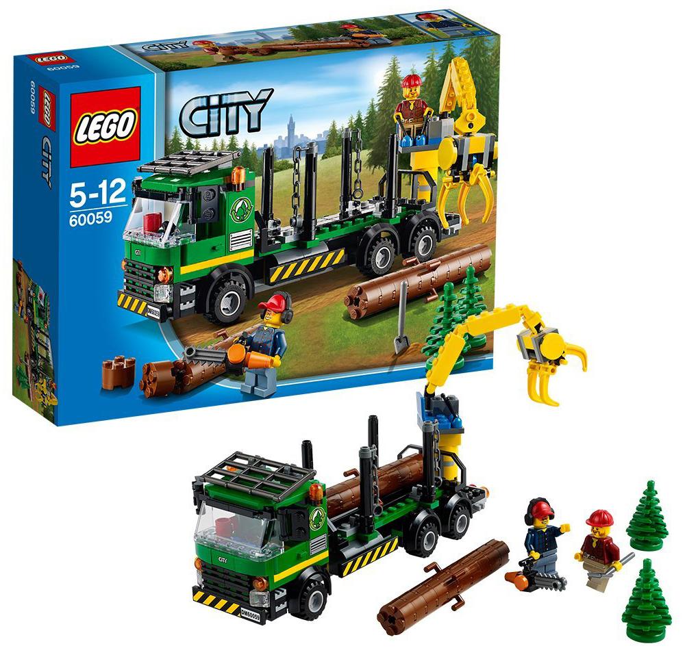 lego city 60059 pas cher le camion forestier. Black Bedroom Furniture Sets. Home Design Ideas