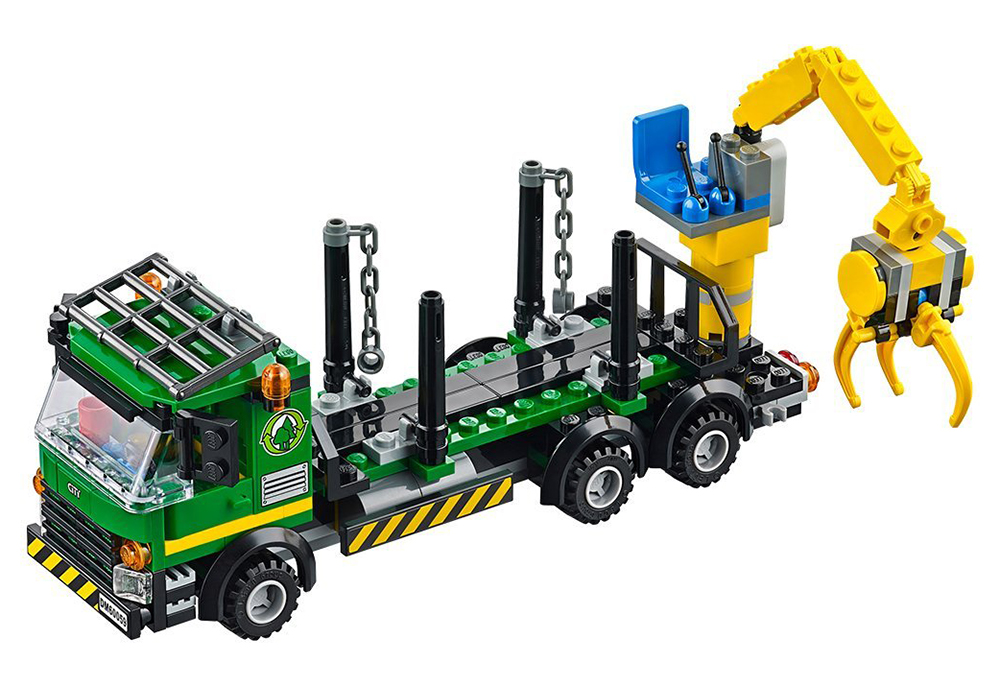 Lego city 60059 pas cher le camion forestier - Camion lego city police ...