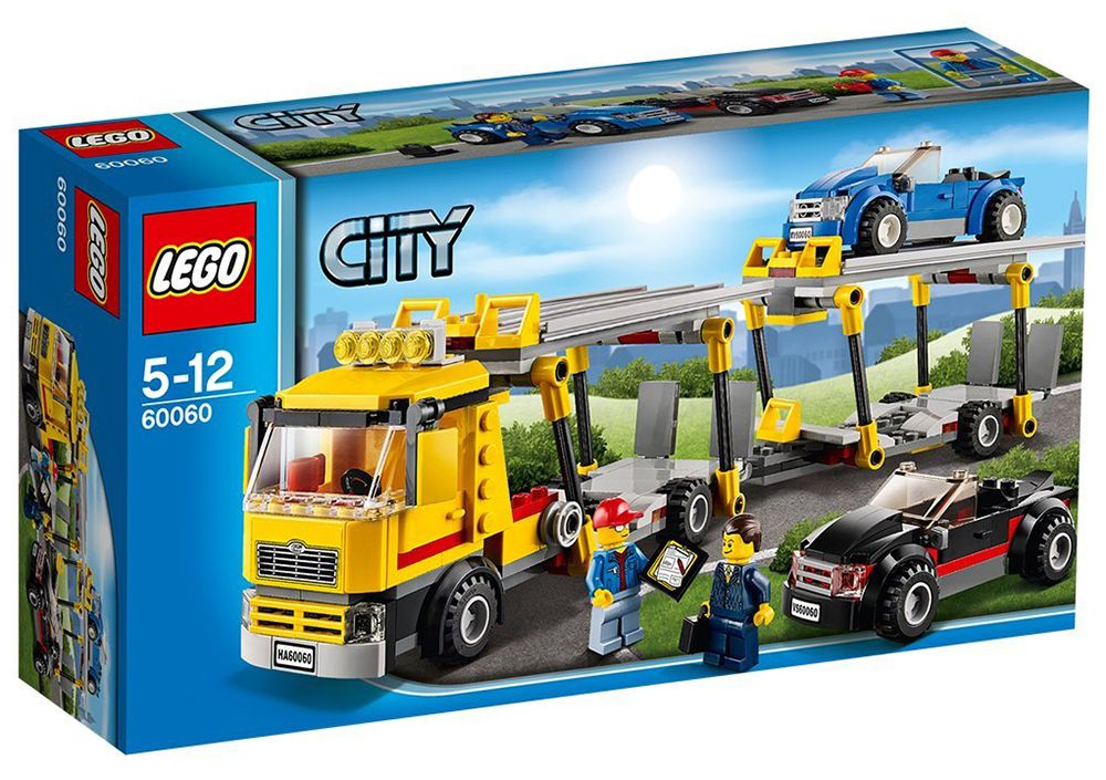 lego city 60060 pas cher le camion de transport de voitures. Black Bedroom Furniture Sets. Home Design Ideas