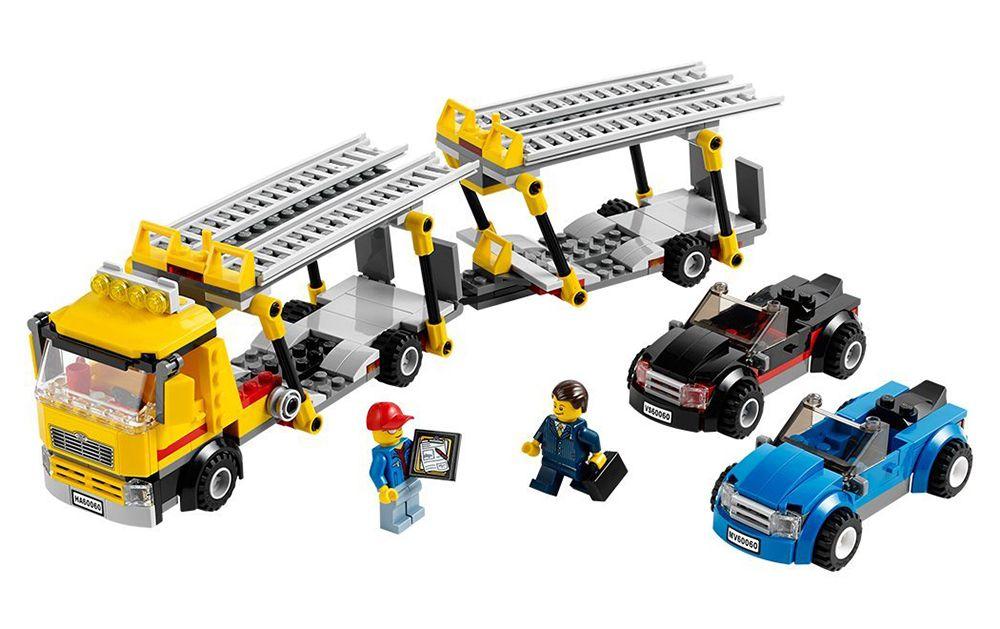 Lego city 60060 pas cher le camion de transport de voitures - Camion de police lego city ...