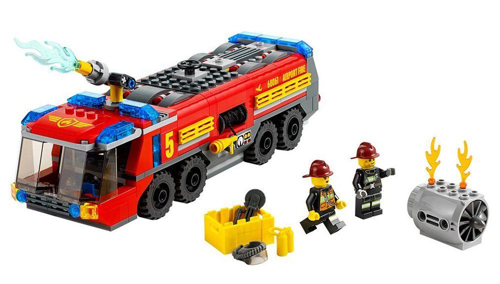lego city 60061 le camion de pompiers de laroport - Lego City Pompier