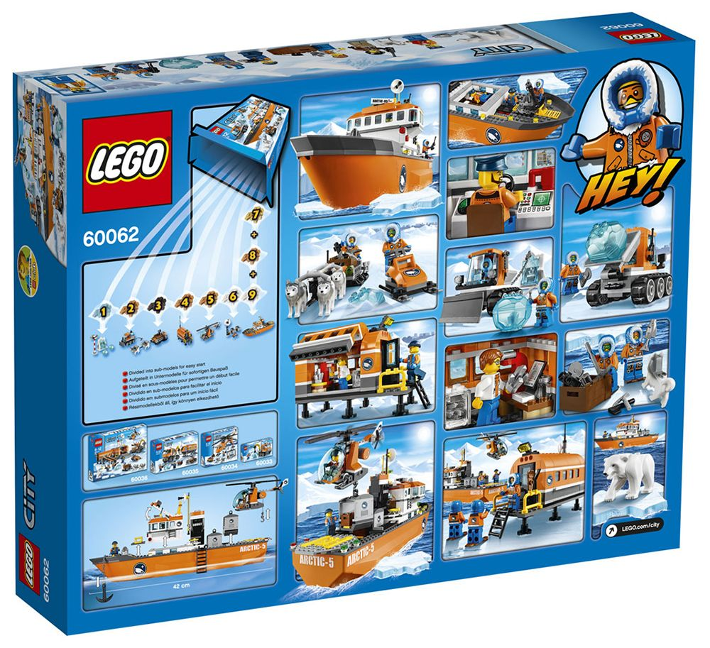 lego city 60062 pas cher le brise glace arctique. Black Bedroom Furniture Sets. Home Design Ideas