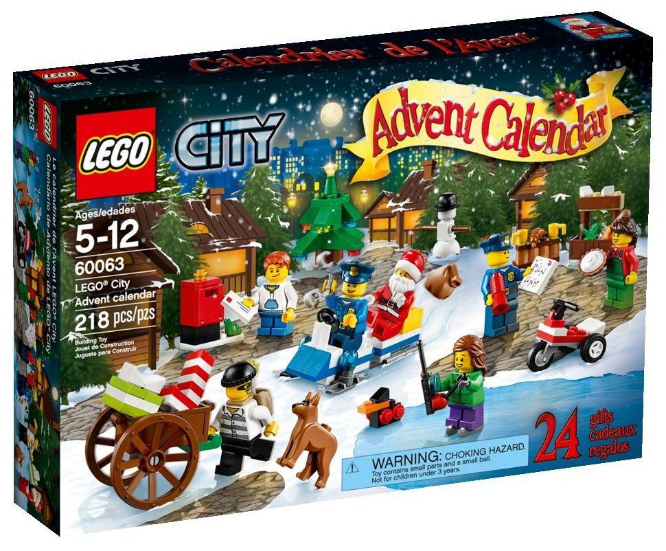 Calendrier Avent Lego City.Lego Saisonnier 60063 Le Calendrier De L Avent Lego City 2014