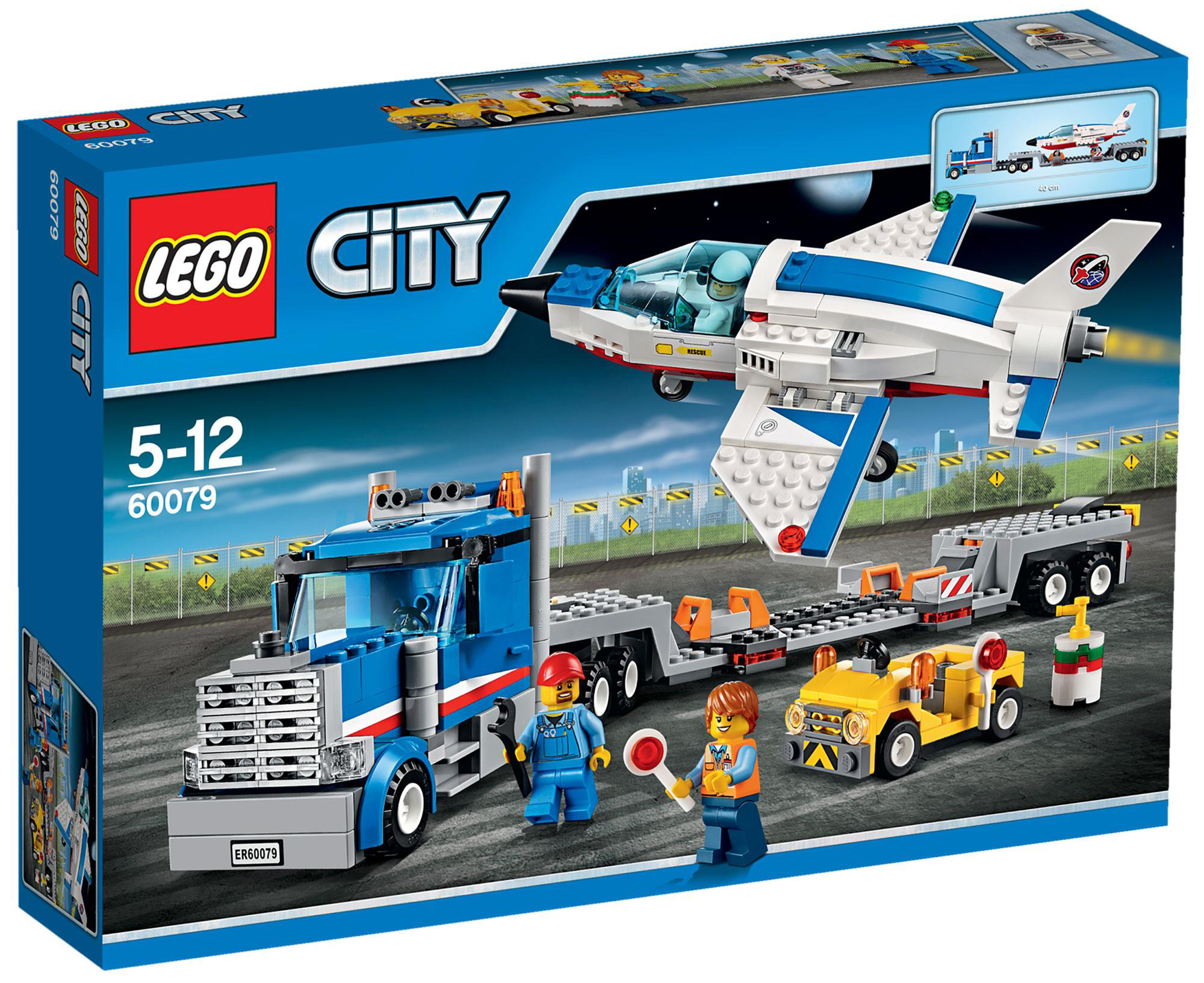 lego city 60079 pas cher le transporteur d 39 avion. Black Bedroom Furniture Sets. Home Design Ideas