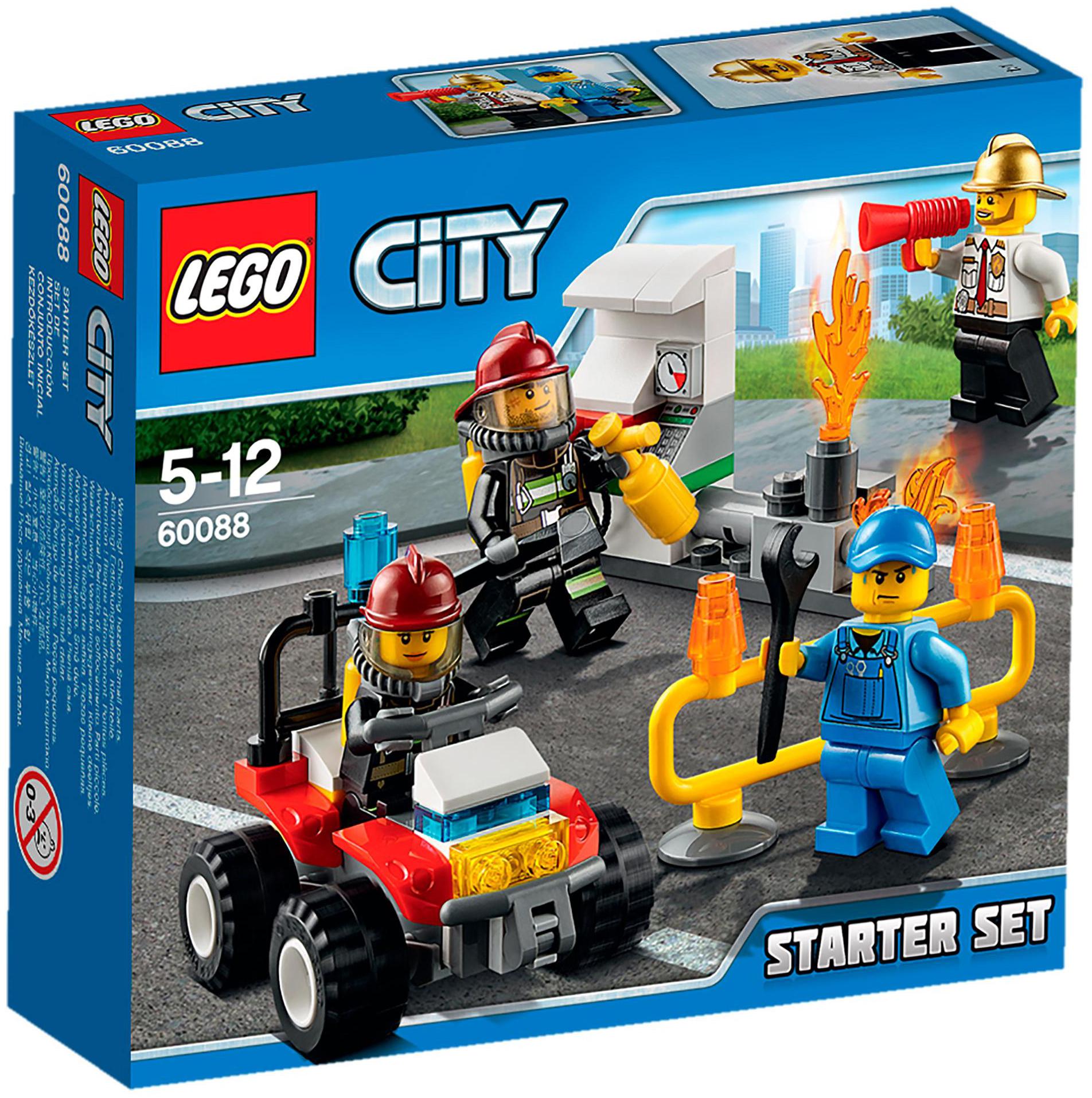lego city 60088 pas cher ensemble de d marrage pompiers. Black Bedroom Furniture Sets. Home Design Ideas