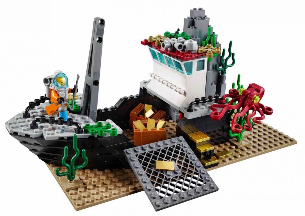 lego city 60095 pas cher le bateau d 39 exploration. Black Bedroom Furniture Sets. Home Design Ideas