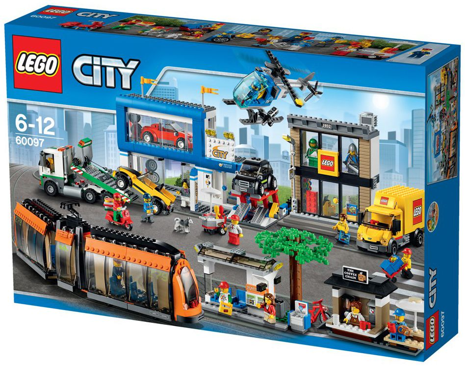 lego city 60097 pas cher le centre ville. Black Bedroom Furniture Sets. Home Design Ideas