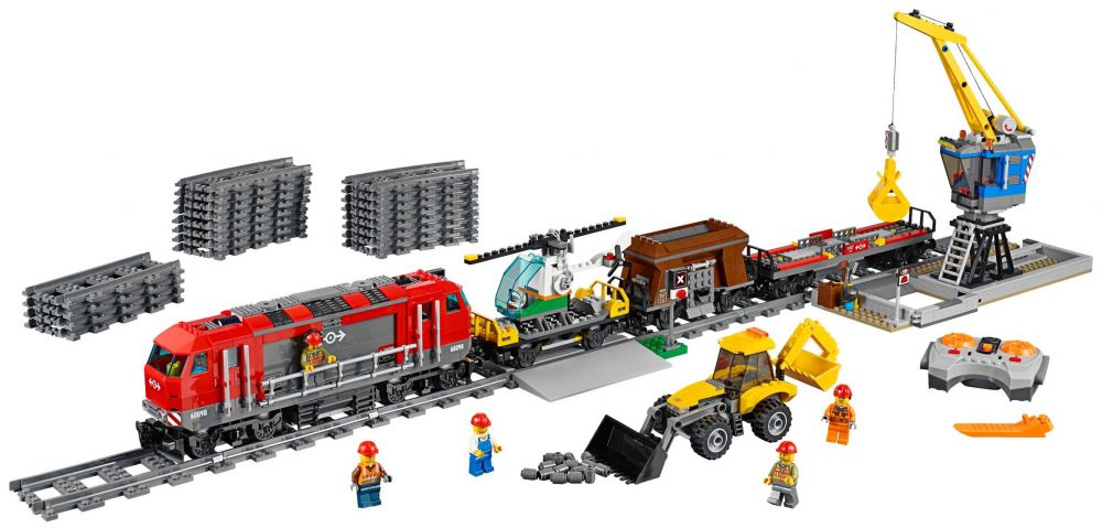 lego city 60098 pas cher le train de marchandises rouge. Black Bedroom Furniture Sets. Home Design Ideas
