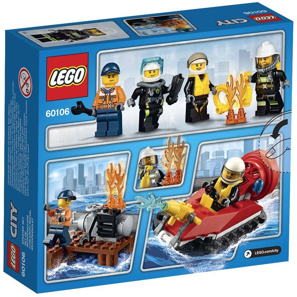 lego city 60106 pas cher ensemble de d marrage pompiers. Black Bedroom Furniture Sets. Home Design Ideas