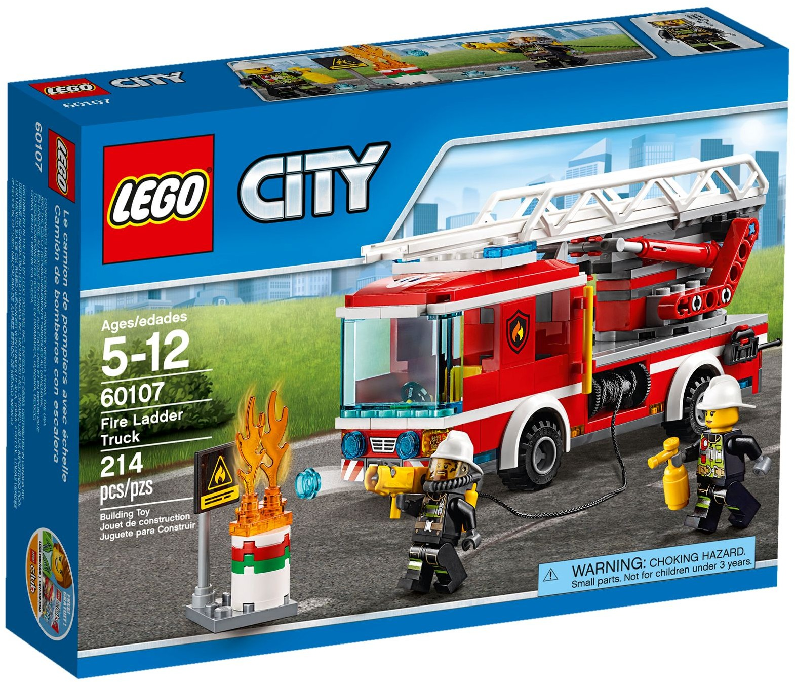 lego city 60107 pas cher le camion de pompiers avec chelle. Black Bedroom Furniture Sets. Home Design Ideas